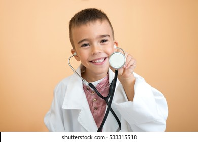 Little doctor ready to examine