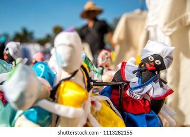 Little dolls in Manaca Iznaga market, Cuba