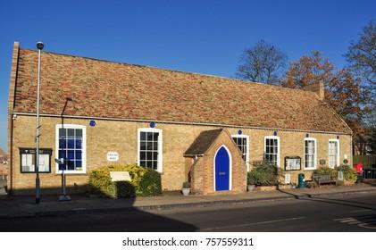 LITTLE DOWNHAM, CAMBRIDGESHIRE/UK - November 17, 2017. Village Hall, Little Downham, Near Ely, Cambridgeshire, England