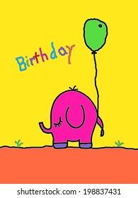 Little Elephant - Birthday