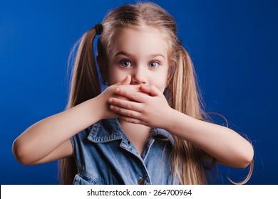Little emotional girl