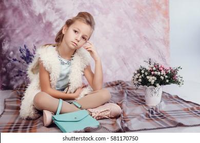 little fashion girl portrait.