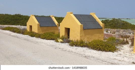 Little fellow slave houses on Bonaire