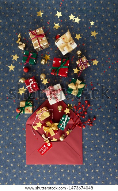 Little festive gift wrapped presents for a Merry Christmas