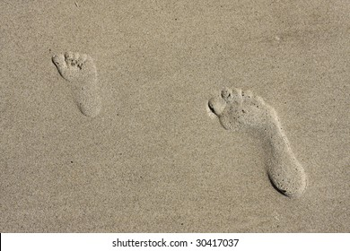 Little footprint and big footprint in Sand