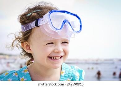 Little funny diver