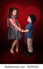 Little gentleman make a confession in love for his  lady
