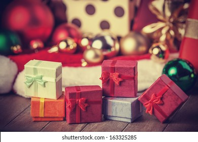 Little gifts at christmas background