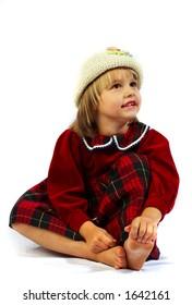 The little girl...