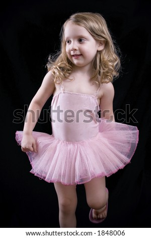 bdcb2b5df8b7 Little Girl Ballerina Costume Stock Photo (Edit Now) 1848006 ...