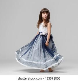Little girl in beautiful dress portrait