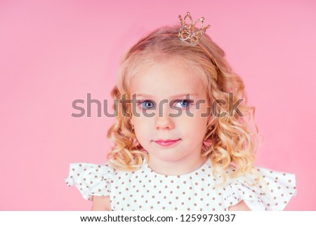 c3bfe1bc9dc Little Girl Beauty Queen Blue Eyes Stock Photo (Edit Now) 1259973037 ...