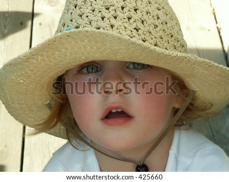 dc3d7f97a77 Little Girl Big Floppy Hat Stock Photo (Edit Now) 425660 - Shutterstock