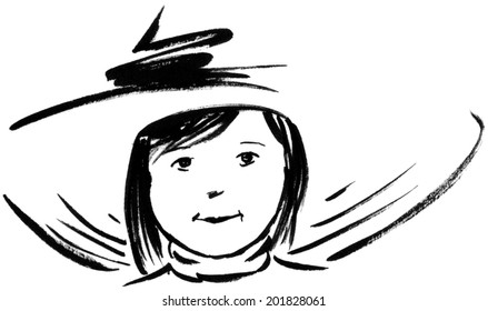 Little Girl, Big Hat