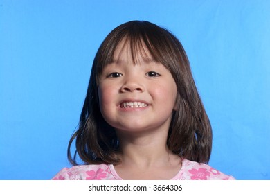 Little girl with a big smile.