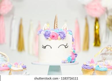Surprising Unicorn Cake Images Stock Photos Vectors Shutterstock Funny Birthday Cards Online Unhofree Goldxyz