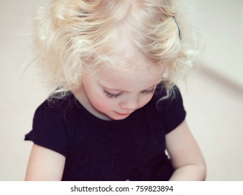 little girl blond hair