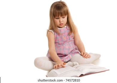 The little girl with the book