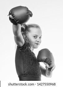 little girl in boxing gloves punching. training with coach. Fight. Boxer child workout, healthy fitness. knockout and energy. Sport success. Sport and sportswear fashion. girl boxing. absolute winner