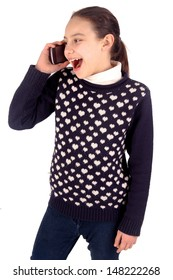 little girl with cellphone