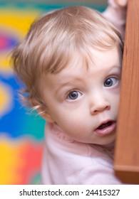 Little girl close-up face portrait - shallow DOF