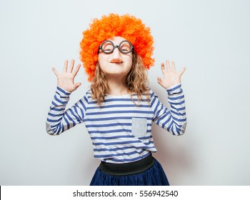 Little girl clown