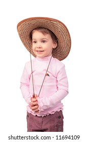 Little girl with cowboy hat