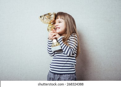 little girl with a cup