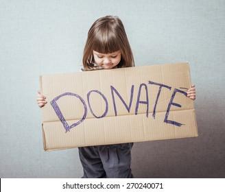 little girl  donations