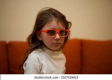 The little girl in the glasses
