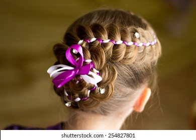 Little girl with hairstyle