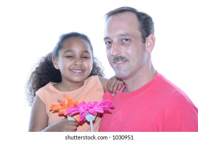 Little girl and her Dad.