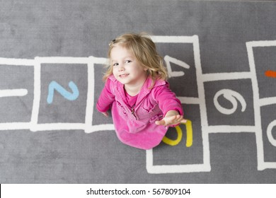 Little girl in kindergarten