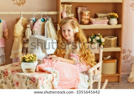 8ea6a9feb Little Girl Long Blond Hair Smiles Stock Photo (Edit Now) 1055645642 ...