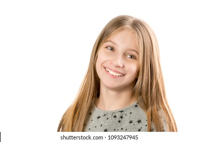 Little girl looking to the side
