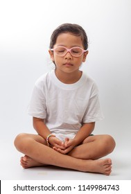 little girl meditation.