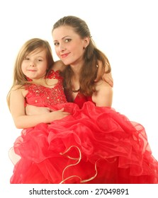 The little girl with mum. The photographic image.