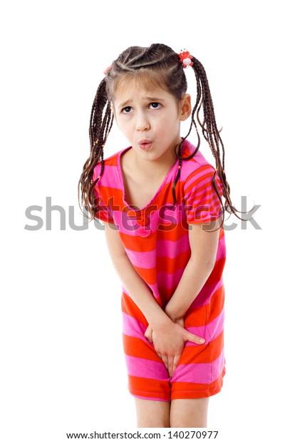 little girl pee