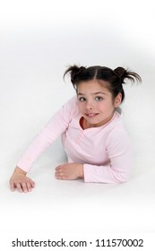 Little girl on fashion shoot