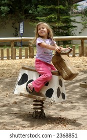 the little girl on the horse