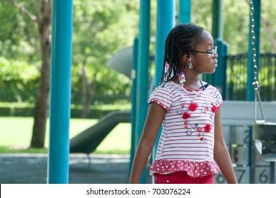 Little girl on a playground