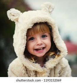 Little girl outdoor portrait