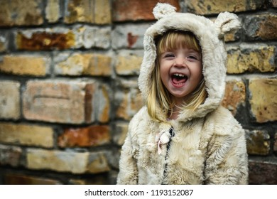Little girl outdoor portrait