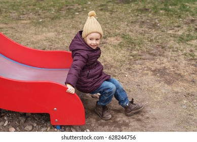 Little girl in the playground