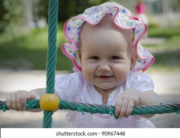 Little girl playing outdoor