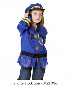 Little Girl in Police Costume
