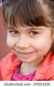 Little girl portrait summer outdoors