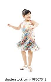 little girl portrait(dancing)