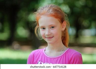 little red hair girl