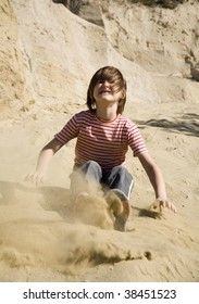 little girl in the sand-pit